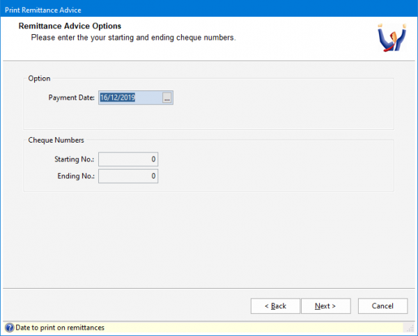 How to process an automatic payment run in Triumph 5 697x561