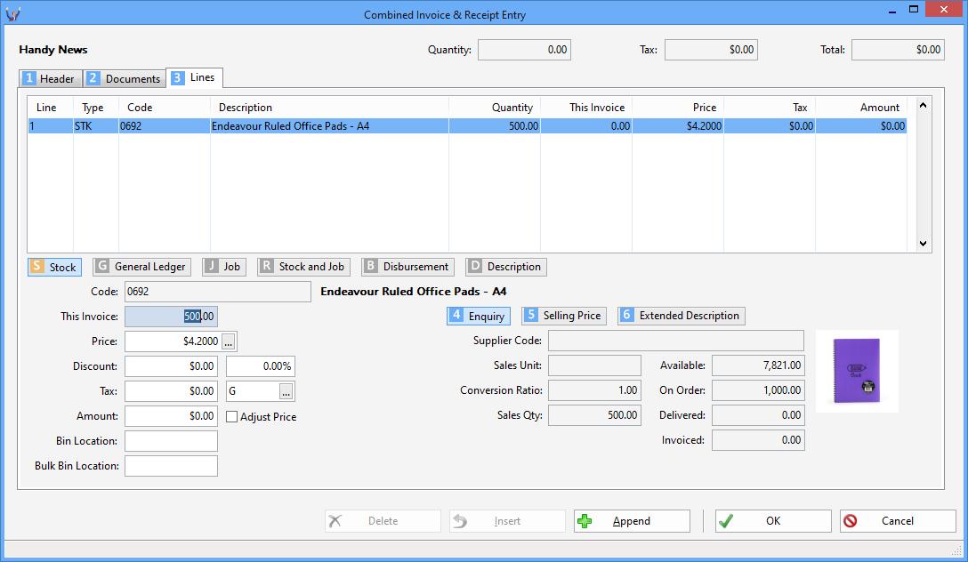Triumph ERP Invoice entry sample 7 1088x632