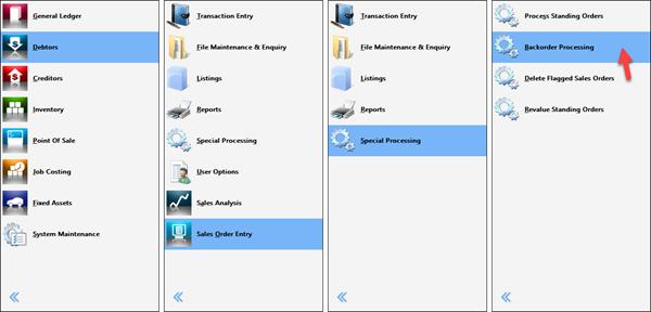 process picking slips from backorder screenshot
