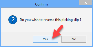 How do I print of cancel an existing picking slip 5