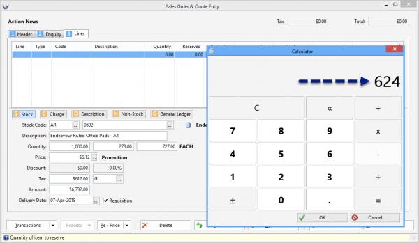 Triumph ERP calculator 2