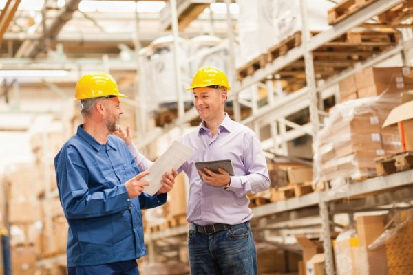 warehouse image with two men
