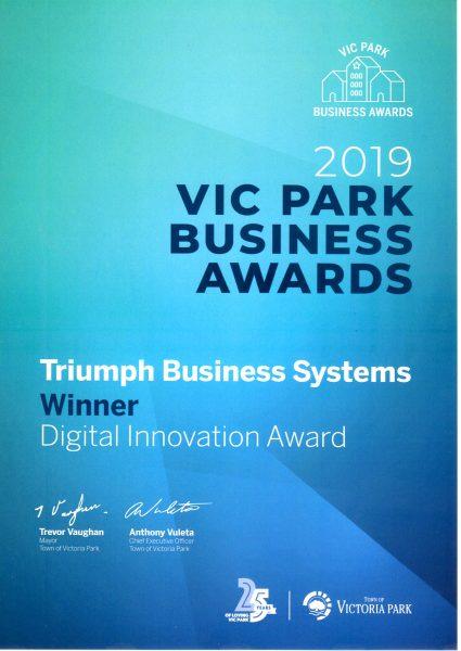 Business Award Triumph Business Systems winner 2477x3500