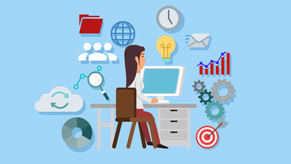 Business Intelligence vector 1920x1080