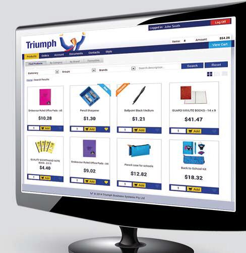Triumph ERP b2b computer monitor screenshot 488x500