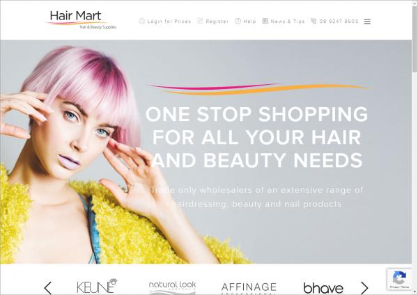 Hair Mart client screenshot sample 1195x845