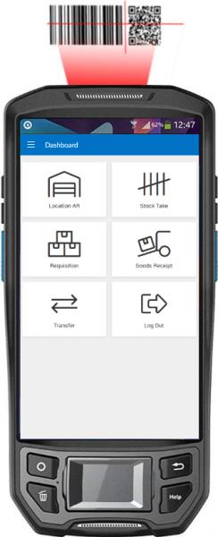 Triumph ERP scanning phone screenshot 332x816