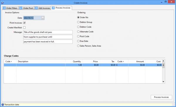 Triumph ERP sales order entry screenshot sample 2