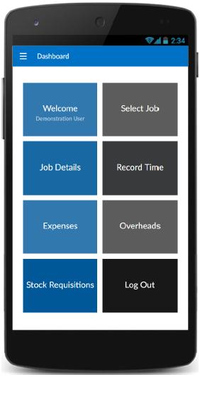 Triumph ERP job mobile sample image