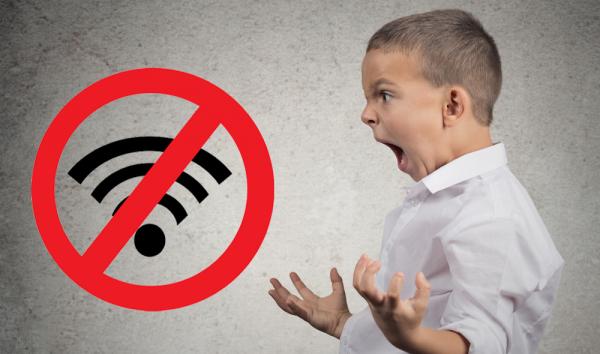 no wifi kid tantrum
