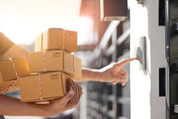 person delivering parcels