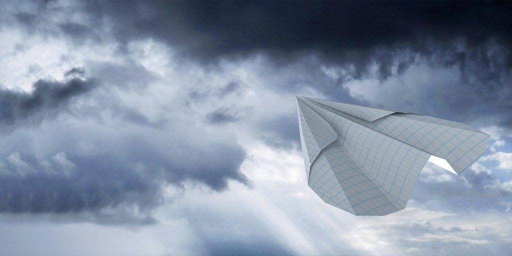 paperplane in sky streamline