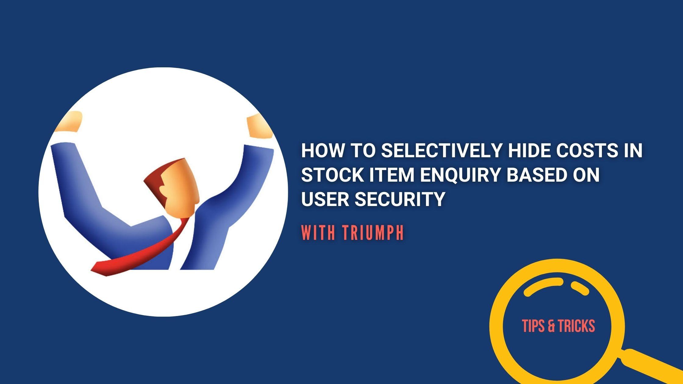 stock item enquiry