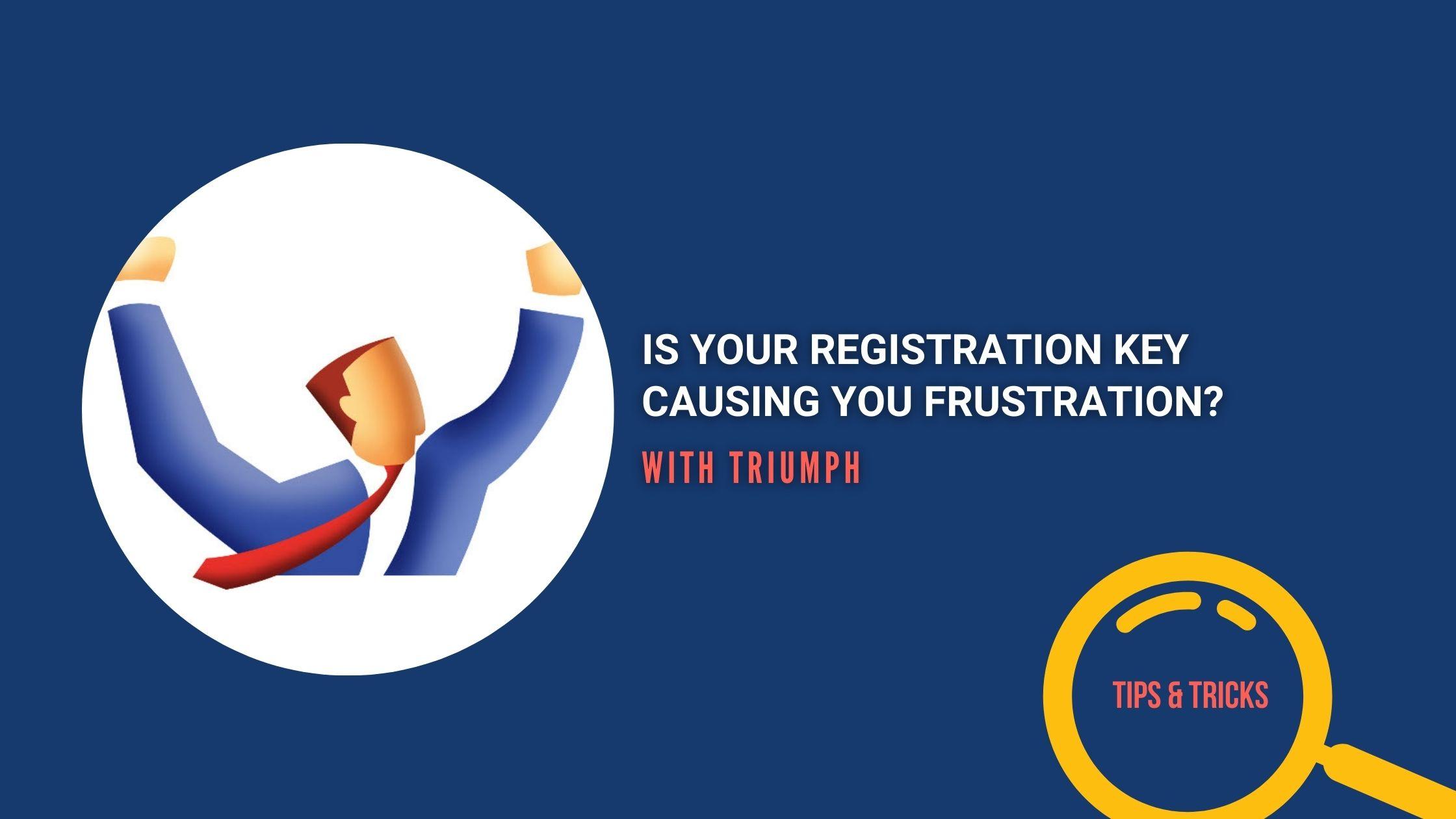Registration key